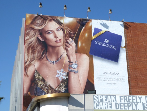 Karlie Kloss Swarovski Holidays 2016 billboard