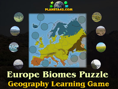Europe Biomes Puzzle