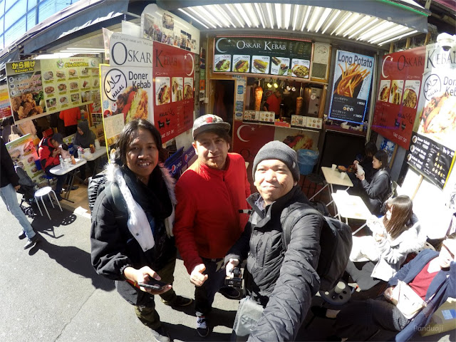 Aku dan Mas Cosa, teman jalan di Jepang