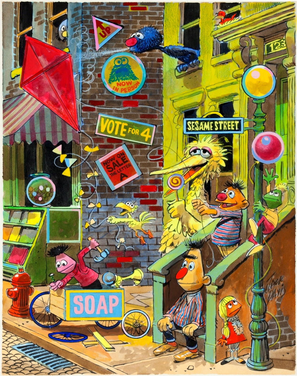 The Dork Review Rob S Room Sesame Street Watercolors By