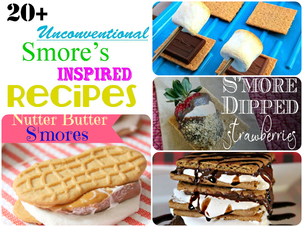 20+ unconventional smore's inspired recipes