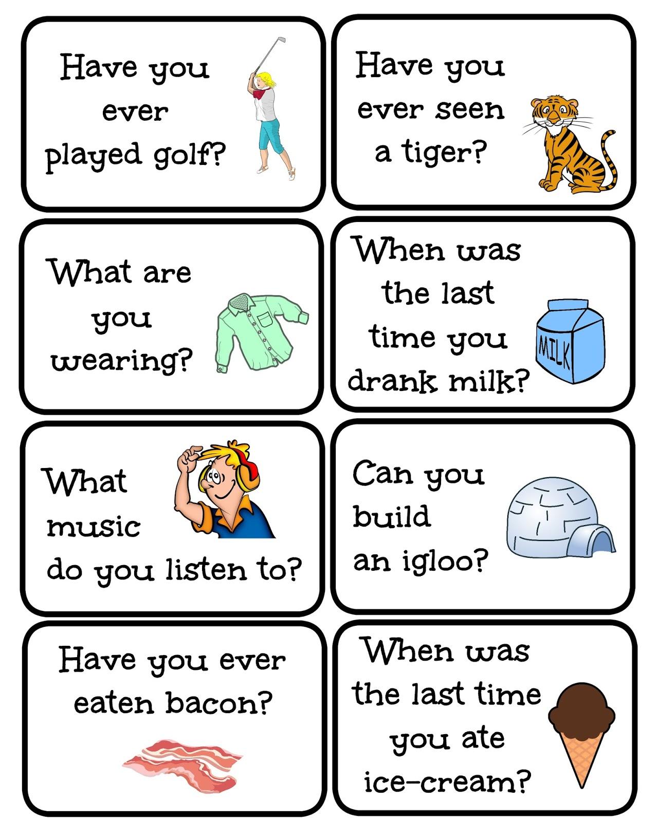 Funglish Conversation Prompt Cards