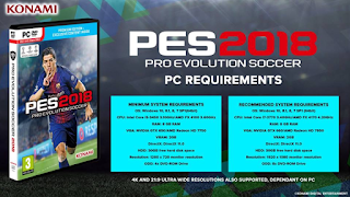 System Requirements PES2018 PC !!!