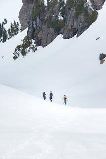 the cirque below Alexandra Peak