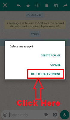 how to delete a whatsapp message that has been sent