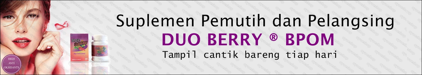Suplemen Pemutih dan pelangsing Duo Berry BPOM : Klik