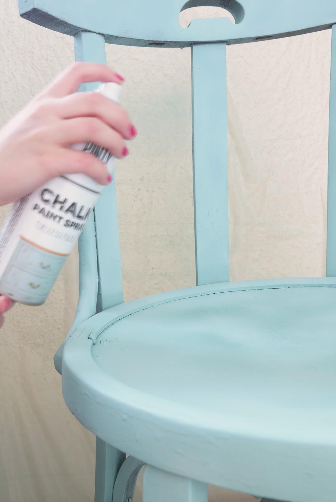 Mi armario coqueto antes y despu s silla abandonada for Sillas color turquesa