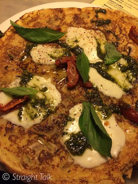 Pizza Caprese pancake