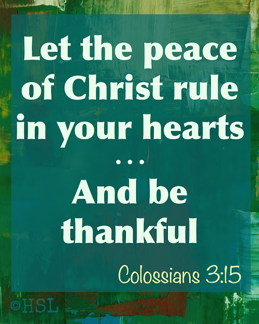 Colossians 3:15, Christian living