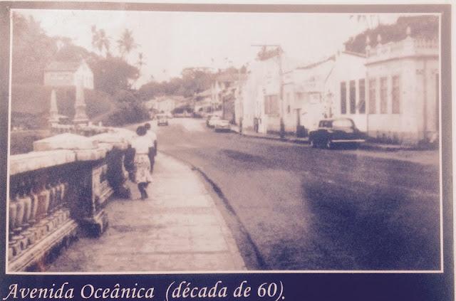Balaustrada da Praia da Paciência em 1960