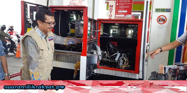 Terindikasi Curangi Konsumen, Dua Mesin BBM Di Dua SPBU di Bandung Disegel