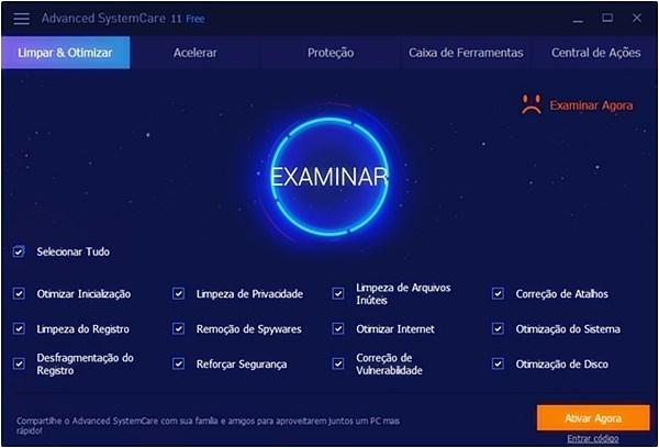Advanced SystemCare Free. Programas para acelerar o PC Windows