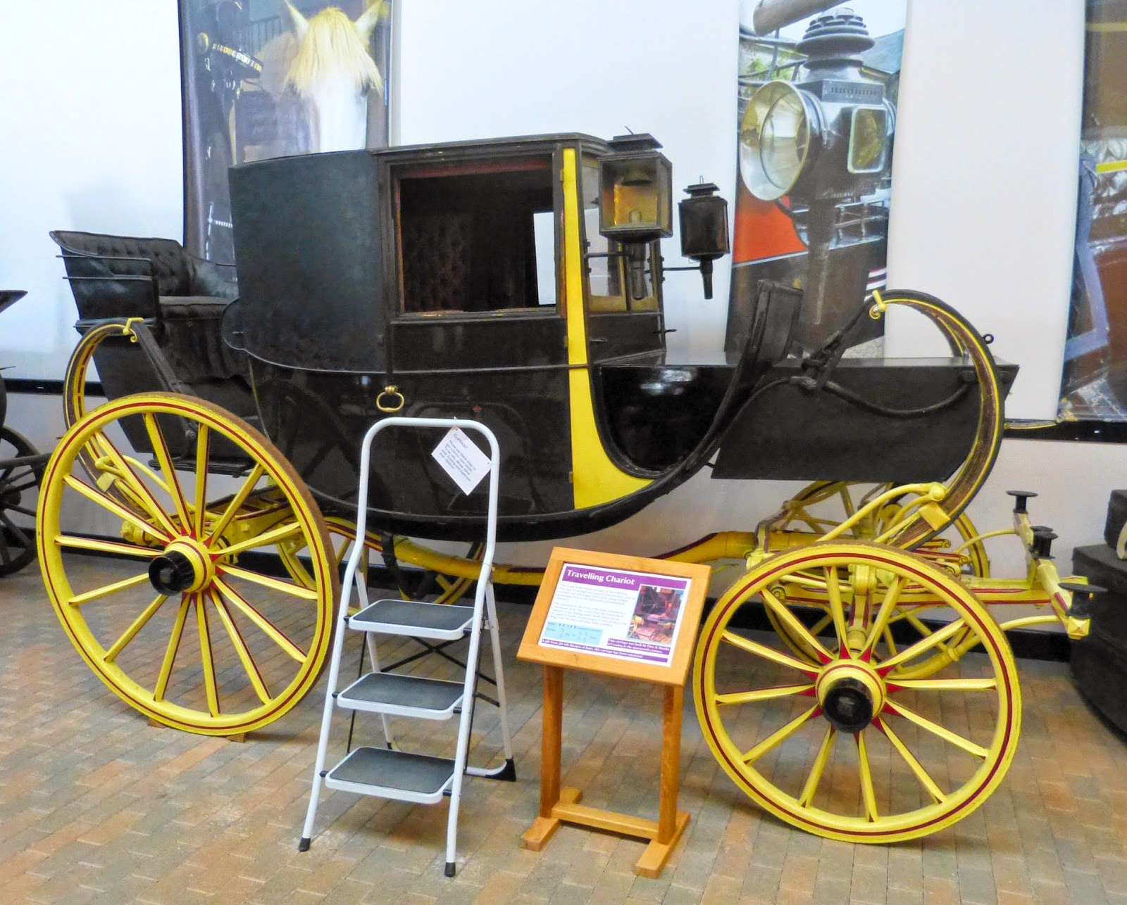 Travelling chariot at the National Trust Carriage Museum, Arlington Court