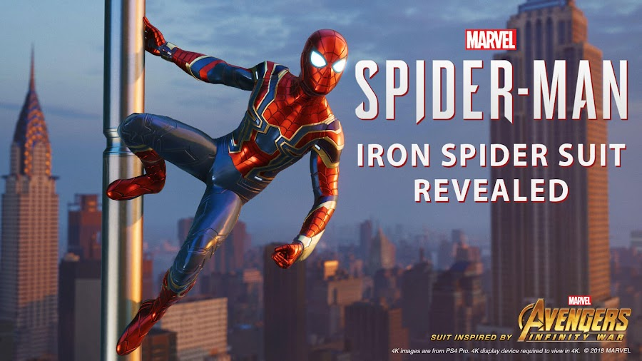 spider man ps4 iron spider suit