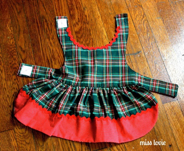 Miss Lovie Easy Sew Dog Dress