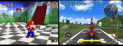 Mario 64 Pilotwings 64