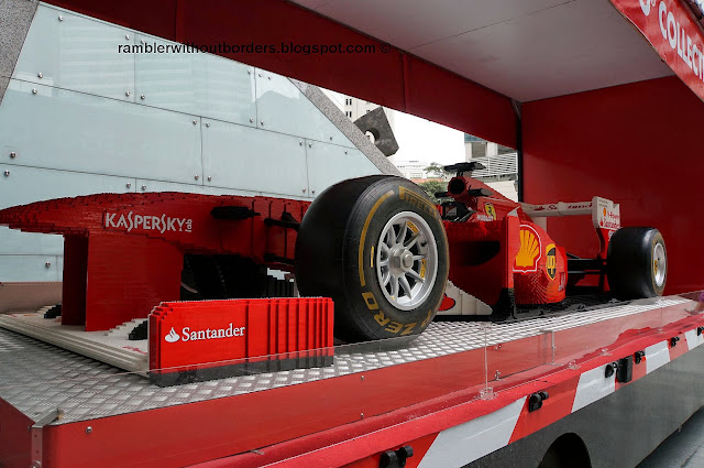 F1 racing car made from Lego pieces, Raffles Place, Singapore