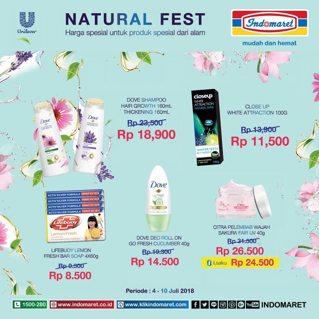 Indomaret - Promo Natual Fest Harga Spesial Produk Spesial