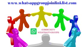 Community WhatsApp Group Join Link List
