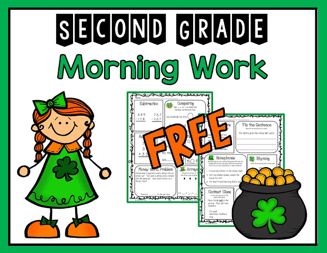 Free morning work for St. Patrick's Day