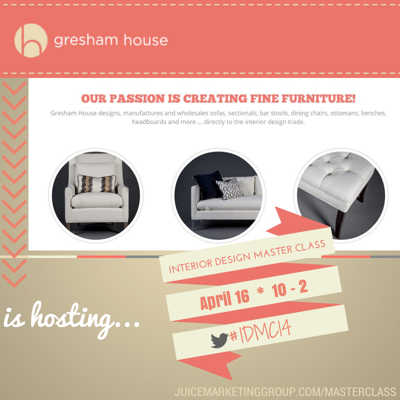 Gresham House Furniture Sponsors Interior Design Master Class 2014
