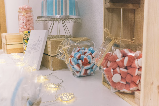 candy bar baby shower / bautizo