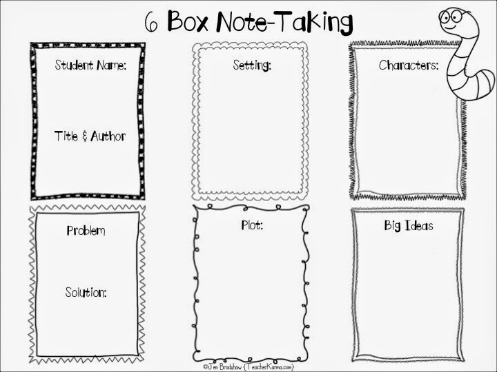 Teacher Karma: FREE: 6 Box Note-Taking Strategy and