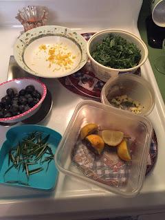 veggies for crispy catfish