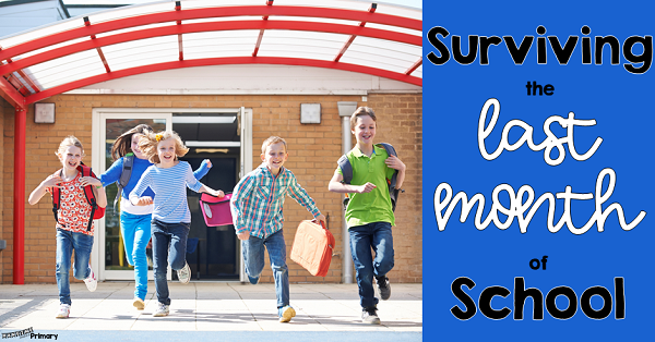 This post is full of tips to help you survive the last month of school.  These ideas will help you enjoy your final weeks with your students while not adding to your stress or you constant state of teacher tired.