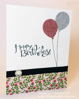 Card made with Stampin'UP!'s Balloon Bouquet Punch