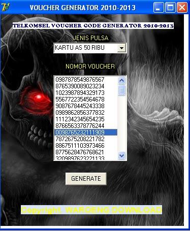Cara Hack voucher pulsa dengan Voucher Generator All
