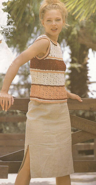 Patrón 914 Blusa a Crochet
