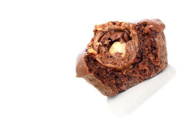 Fondants au chocolat et Ferrero Rocher