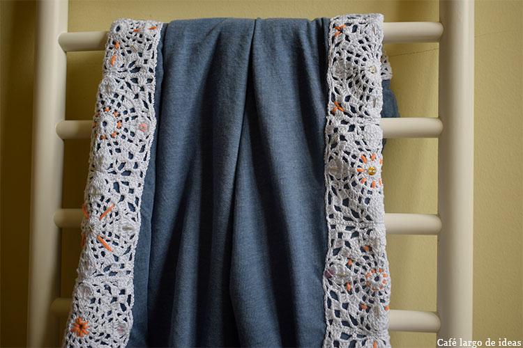 camiseta con crochet
