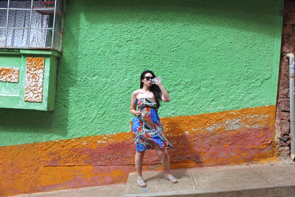 Walking up the steep streets of Puno, Peru - travel blog