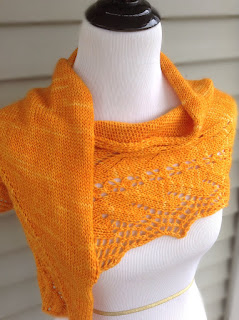 Mentzelia Shawlette, knitdesigns by tian