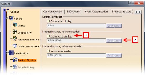 CATIA V5: Customizing assembly structure nodes