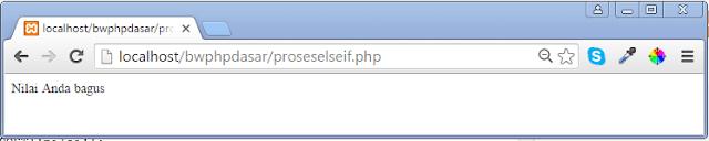 Menggunakan Logika ELSE-IF di PHP