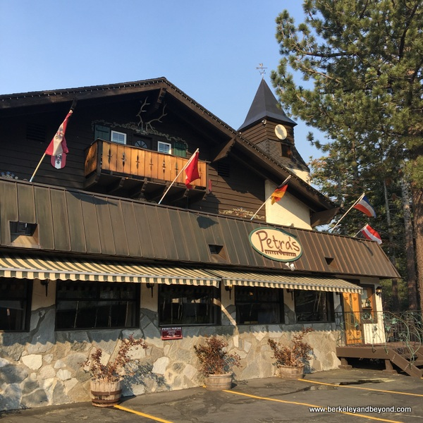 exterior of Petra's Bistro & Wine Bar in Mammoth Lakes, California
