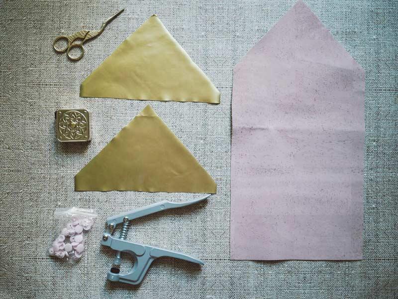 Material für goldenes Täschchen