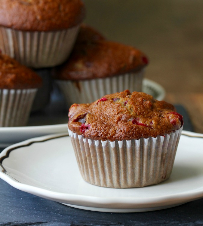 These Sourdough Date Nut Cranberry Muffins combine the tang of sourdough with the sweetness of dates. Then there are the tart cranberries adding an additional flavor dimension. So good.