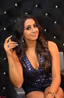 Sanjana looks happy in sparkling short Deep neck Purple Gown ~  Exclusive 84.JPG