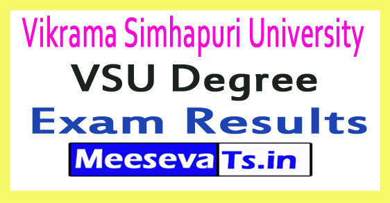 Vikrama Simhapuri University VSU Degree Exam Result