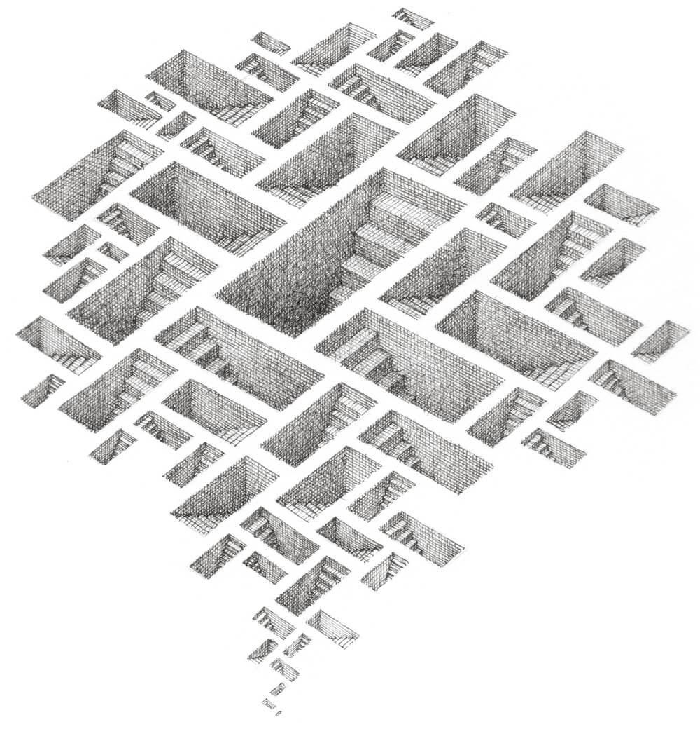 04-Myriad-Ways-Matt-Borrett-Hiding-in-a-Safe-Architectural-Labyrinth-Drawing-www-designstack-co