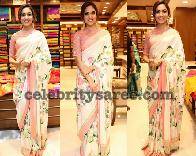 Ritu Varma Floral Saree