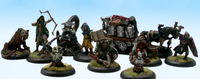 Pathfinder RPG Miniatures Adventuring Party Player Characters