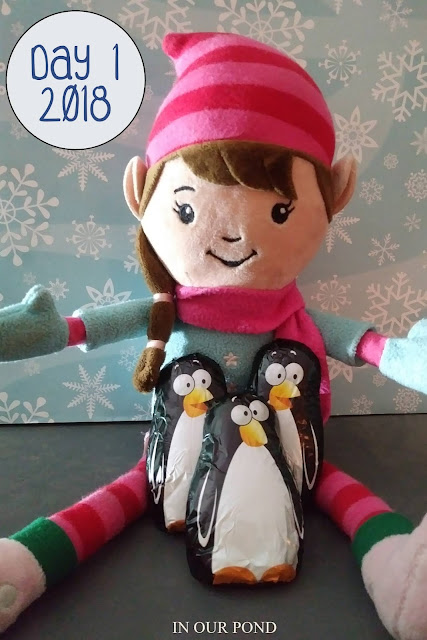 Elf on the Shelf Ideas // In Our Pond // penguins // welcome // Christmas // winter