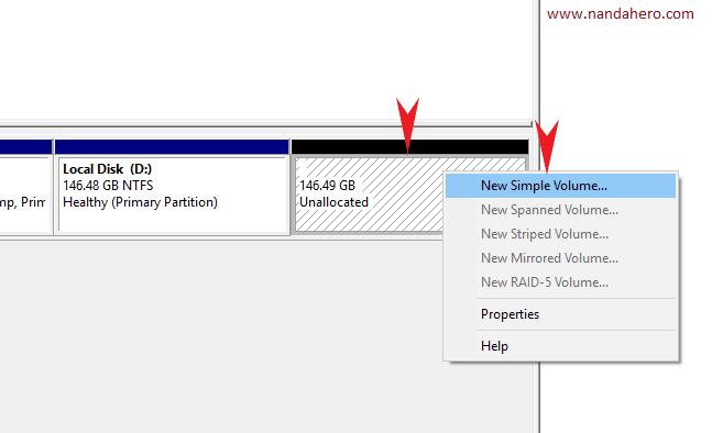 cara membagi partisi hardisk windows 10 saat instal ulang