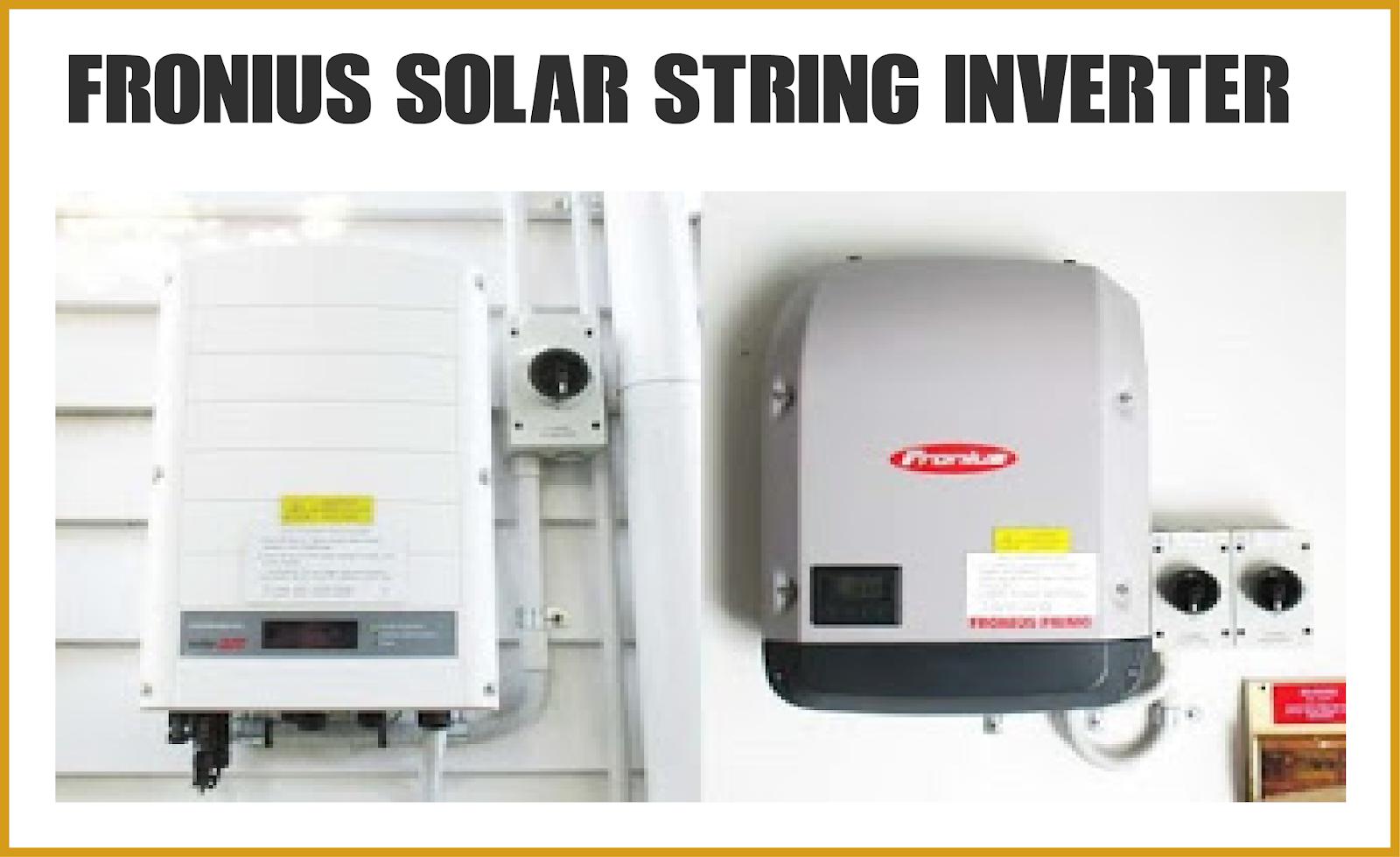 Fronius Solar String Inverter User Manual