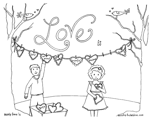 Corinthians  Coloring Page About Love